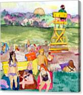 Park Side Beaches Canvas Print