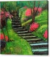 Park Steps Canvas Print