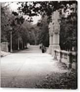 Park Walk In Fall Canvas Print