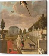 Park With Country House, Jan Weenix, 1670 - 1719 Canvas Print