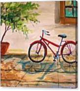 Parked In The Courtyard Canvas Print