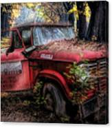 Parked On A Country Road Oil Painting Canvas Print