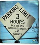 Parking Limits Canvas Print