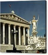 Parliament In Vienna Austria Canvas Print