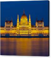 Parliament On The Danube Canvas Print