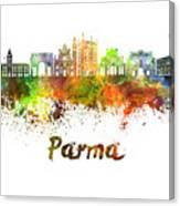 Parma Skyline In Watercolor Canvas Print