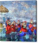 Parrots In Paradise Canvas Print