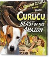 Parson Russell Terrier Art Canvas Print - Curucu  Movie Poster Canvas Print