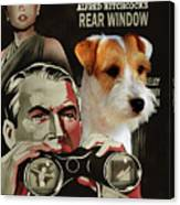 Parson Russell Terrier Art Canvas Print - Rear Window Movie Poster Canvas Print