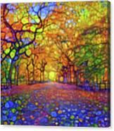 Park In Autumn Canvas Print