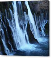 Partial Side View Of Burney Falls Ca Canvas Print