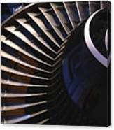 Partial View Of Jet Engine Canvas Print