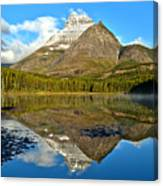 Partly Cloudy Fishercap Reflections Canvas Print