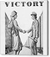 Partners In Victory Canvas Print