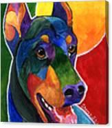 Party Doby,doberman Pinscher  Canvas Print