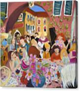 Party In The Courtyard Canvas Print
