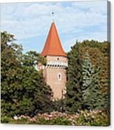 Pasamonikow Tower And Planty Park In Krakow Canvas Print