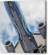 Passenger Jet Coming In For Landing 3 Canvas Print
