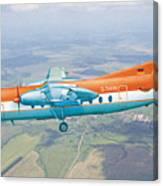 Passenger Plane Fokker 27 During Preparation For Planting  Canvas Print