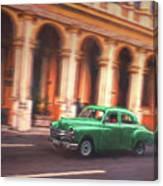 Passing By On El Prado 2 Canvas Print