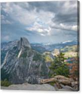 Passing Clouds Over Half Dome Canvas Print