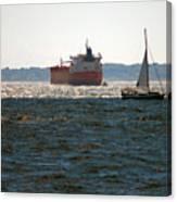 Passing Ships Canvas Print