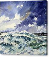 Passing Storm At The Blaskets  Canvas Print