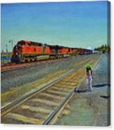 Passing Train Canvas Print