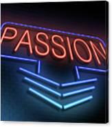 Passion Neon Concept. Canvas Print