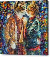 Passion Of The Cats  Canvas Print