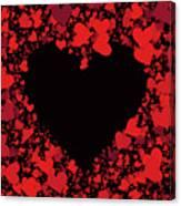 Passionate Love Heart Canvas Print