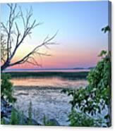 Pastel Clear Lake 3 Canvas Print