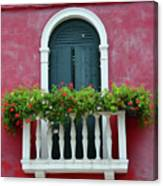 Pastel Colors Of Burano  Canvas Print