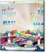 Pastel Desert Landscape Canvas Print