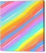 Pastel Diagonals Canvas Print