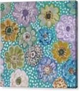Pastel Floral Garden Canvas Print