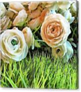 Pastel Roses Canvas Print