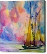 Pastel Sail Canvas Print