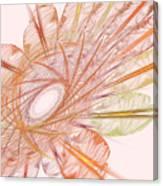 Pastel Spiral Flower Canvas Print
