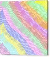 Pastel Stripes Angled Canvas Print