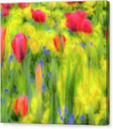 Pastel Summer Flowers  Canvas Print
