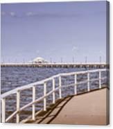 Pastel Tone Sea Pier Landscape Canvas Print
