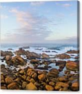 Pastel Tone Seaside Sunrise Canvas Print