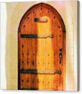Pastel Wooden Door Canvas Print