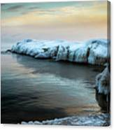 Pastels And Ice Canvas Print