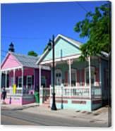 Pastels Of Key West Canvas Print