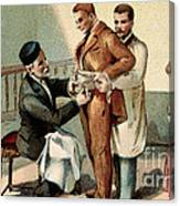 Pasteur Inoculating Man With Rabies Canvas Print