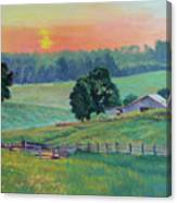 Pastoral Sunset Canvas Print