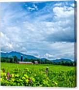 Pastoral Vermont Farmland Canvas Print