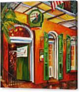 Pat O'brien's Bar On Bourbon Street Canvas Print